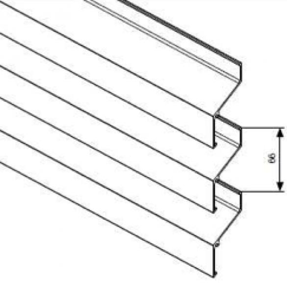 Bardage – L.066 – Lames filantes 2 modèles : L.01 L.06
